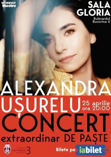 Poster eveniment Alexandra Ușurelu - Concert extraordinar de Paște