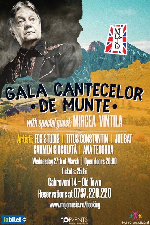Gala cântecelor de munte cu Mircea Vintilă la Club Mojo