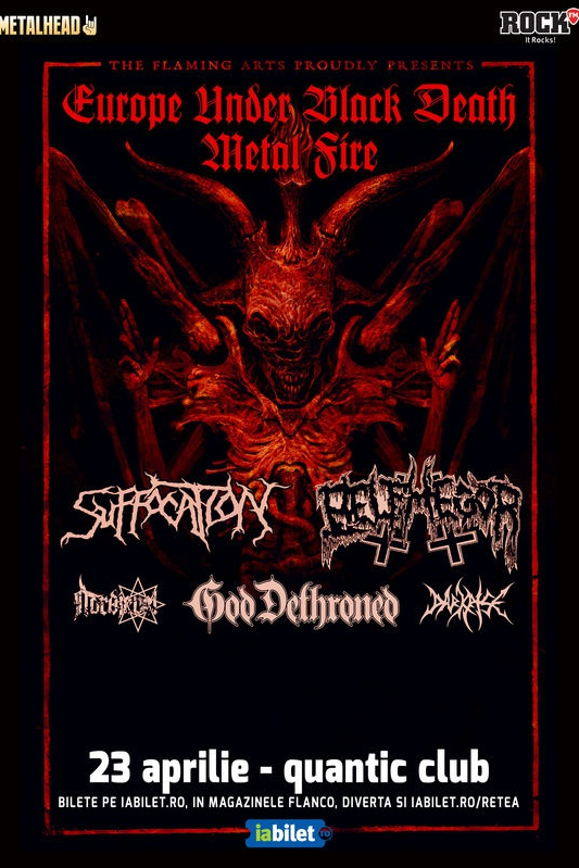 Suffocation, Belphegor & God Dethroned la Quantic Club