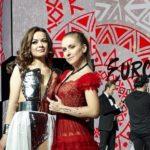 Ana Odobescu și Ester Peony, după finala selecției Eurovision 2019 Moldova