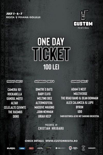 Poster eveniment Custom Reșița Festival 2019
