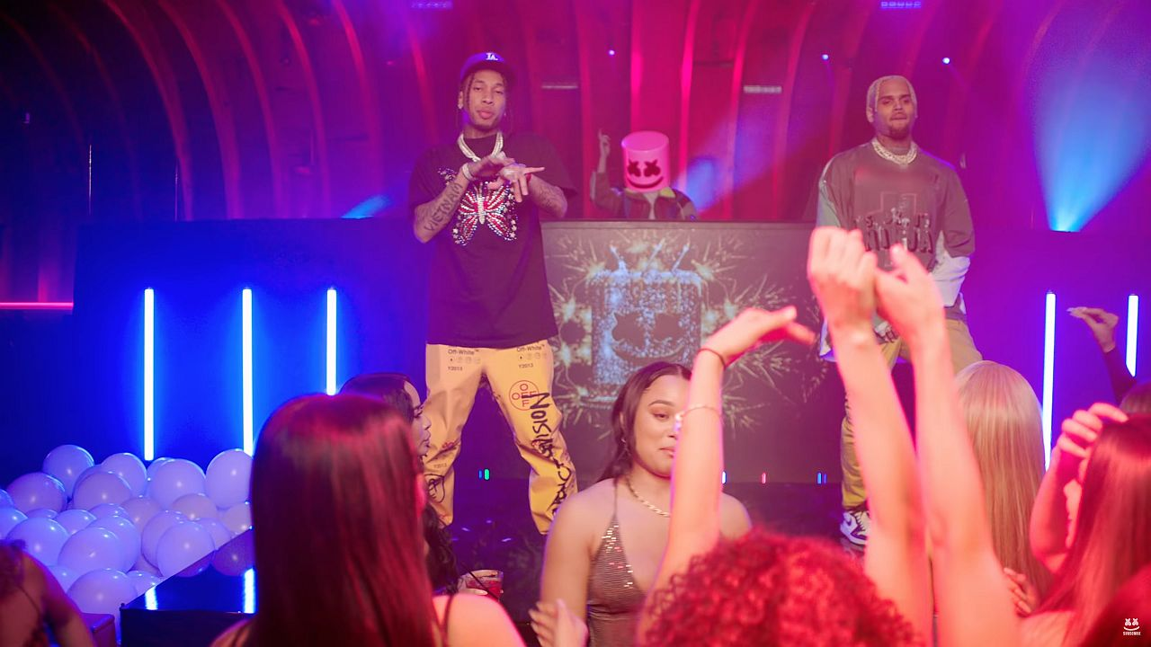Videoclip Marshmello Tyga Chris Brown Light It up
