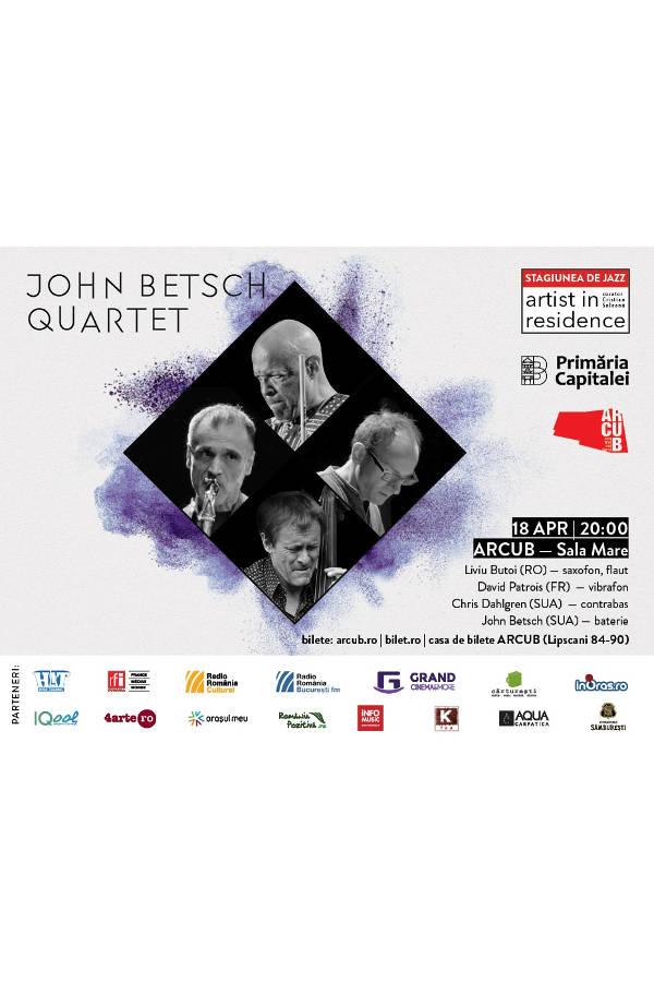 John Betsch Quartet la ARCUB - Sala Mare (Hanul Gabroveni)