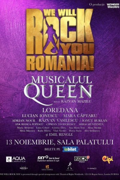 """Poster eveniment Musicalul Queen: \""""We Will Rock You\"""""""