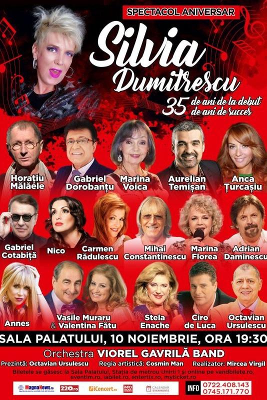 Spectacol Aniversar - Silvia Dumitrescu la Sala Palatului