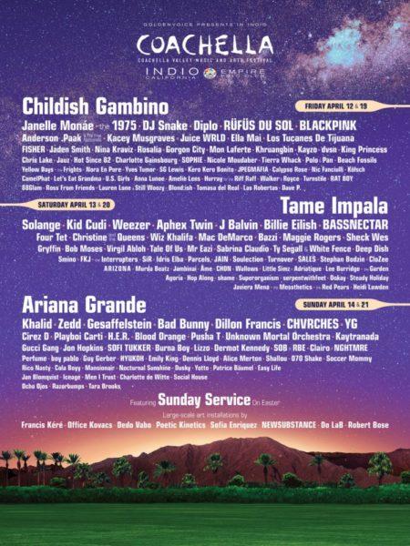 Poster Coachella 2019
