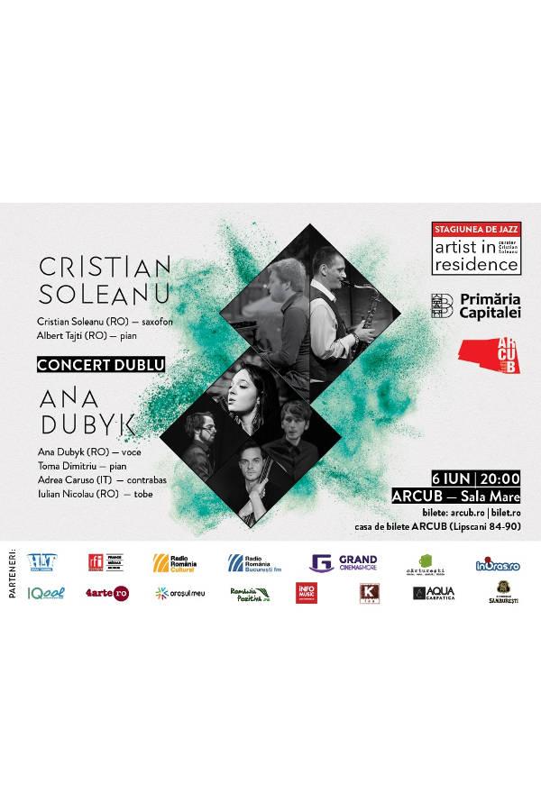 Cristian Soleanu & Albert Tajti / Ana Dubyk Quartet la ARCUB - Sala Mare (Hanul Gabroveni)