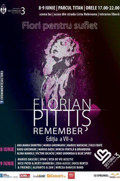 Poster eveniment Flori pentru suflet - Remember Florian Pittiș 2019