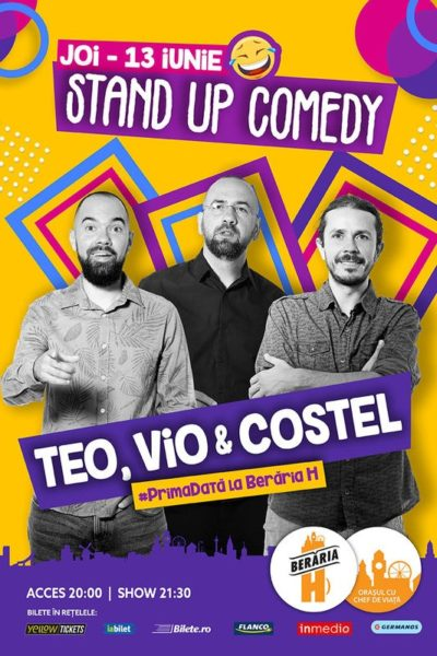Poster eveniment Stand Up Comedy - Teo, Vio și Costel
