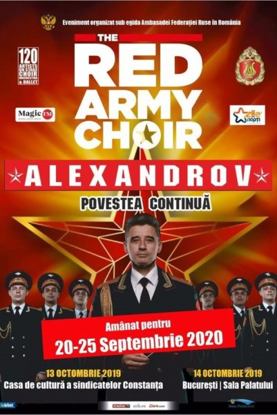 Poster eveniment The Red Army Choir - AMÂNAT
