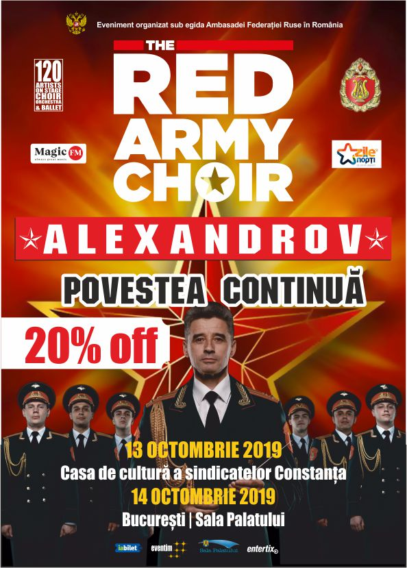 The Red Army Choir la Sala Palatului