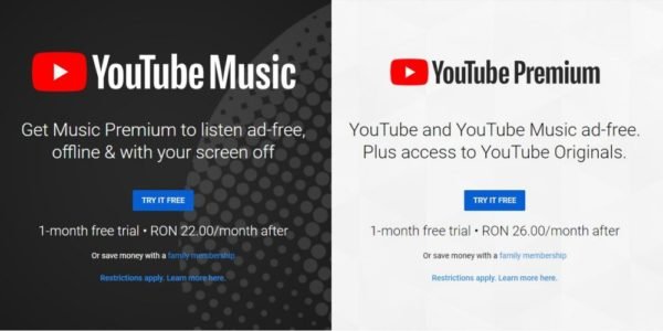 YouTube Music și YouTube Premium devin disponibile și în România Youtube-music-premium-600x300