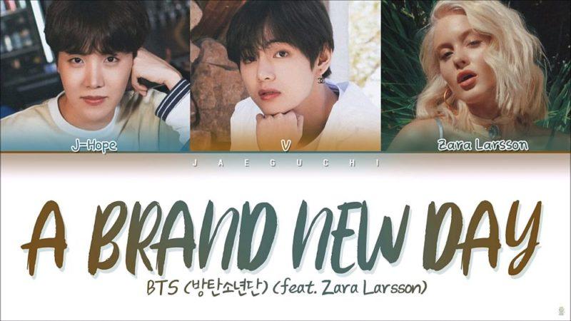 Coperta single BTS Zara Larsson A Brand New Day