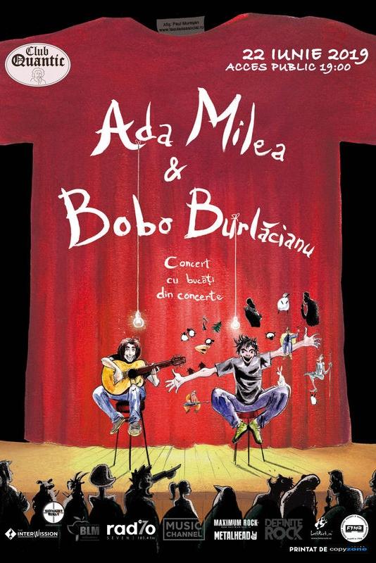 Ada Milea și Bobo Burlăcianu – Concert cu bucăți din concerte la Quantic Club