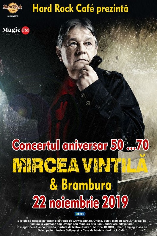 Concert Aniversar 50....70 Mircea Vintilă & Brambura la Hard Rock Cafe