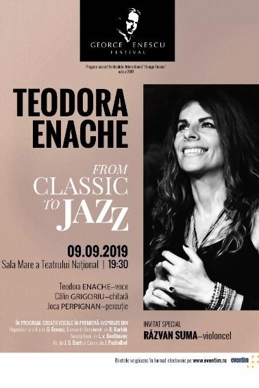 Teodora Enache - From Classic To Jazz la Teatrul Naţional București