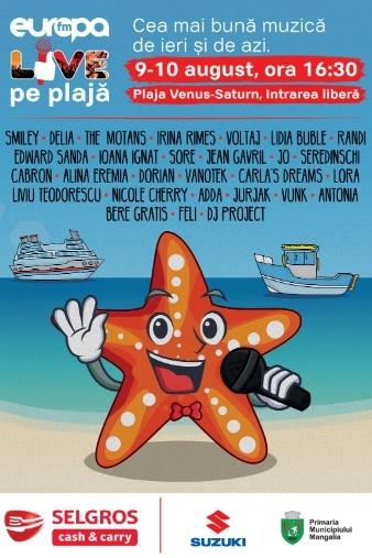 Poster eveniment Europa FM Live pe Plajă 2019