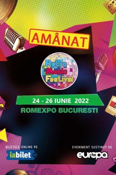 Poster eveniment Retro Music Festival 2022