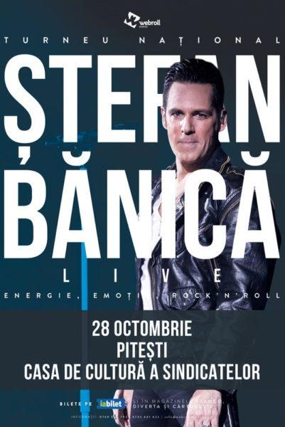 Poster eveniment Ștefan Bănică - turneu național