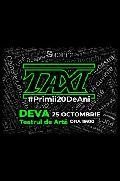 Poster eveniment TAXI: Primii 20 de ani