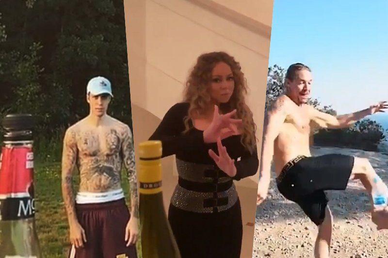 Justin Bieber, Mariah Carey și Diplo acceptă Bottle Cap Challenge