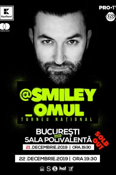 """Poster eveniment Smiley: \""""@Smiley_Omul\"""""""