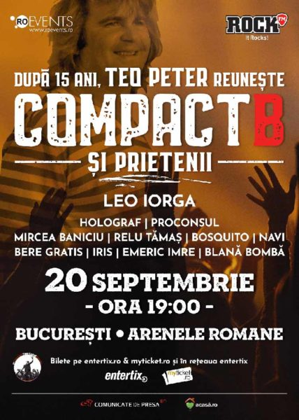 Poster eveniment CompactB & Friends | Concert pentru Teo Peter