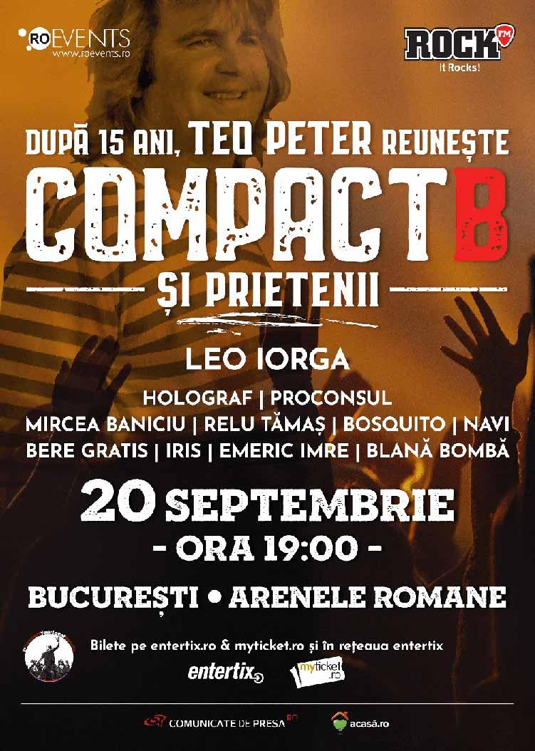 CompactB & Friends | Concert pentru Teo Peter la Arenele Romane
