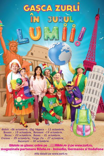 Poster eveniment Gașca Zurli în jurul lumii