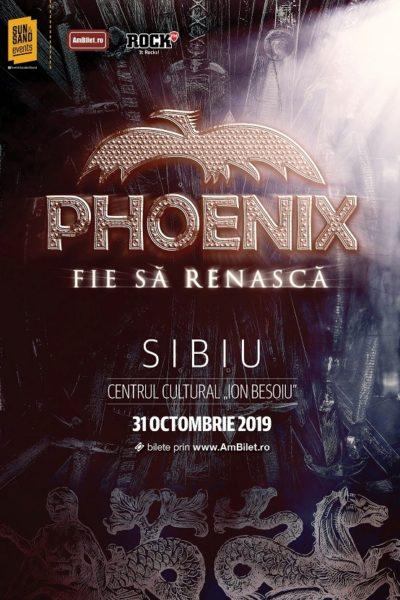"""Poster eveniment Phoenix - turneu \""""Fie să renască\"""""""