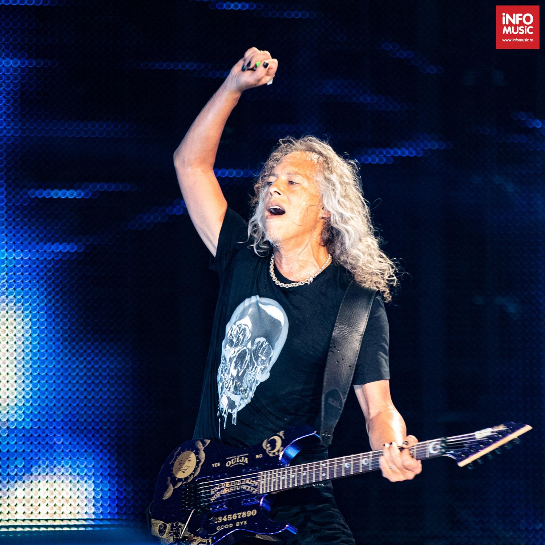 Kirk Hammett în concertul Metallica de la București pe 14 august 2019