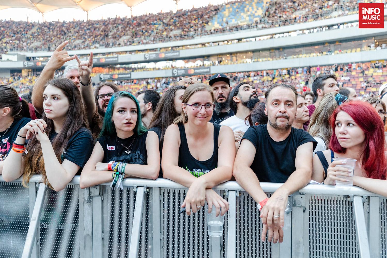 Publicul la concertul Metallica la București pe 14 august 2019
