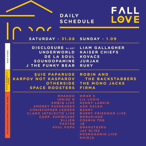 Program pe zile - Fall in Love Festival 2019