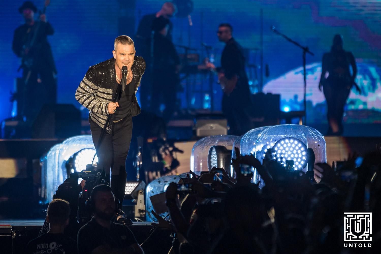 Robbie Williams în concert la UNTOLD 2019