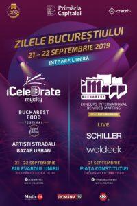 Afiș Zilele Bucureștiului 2019