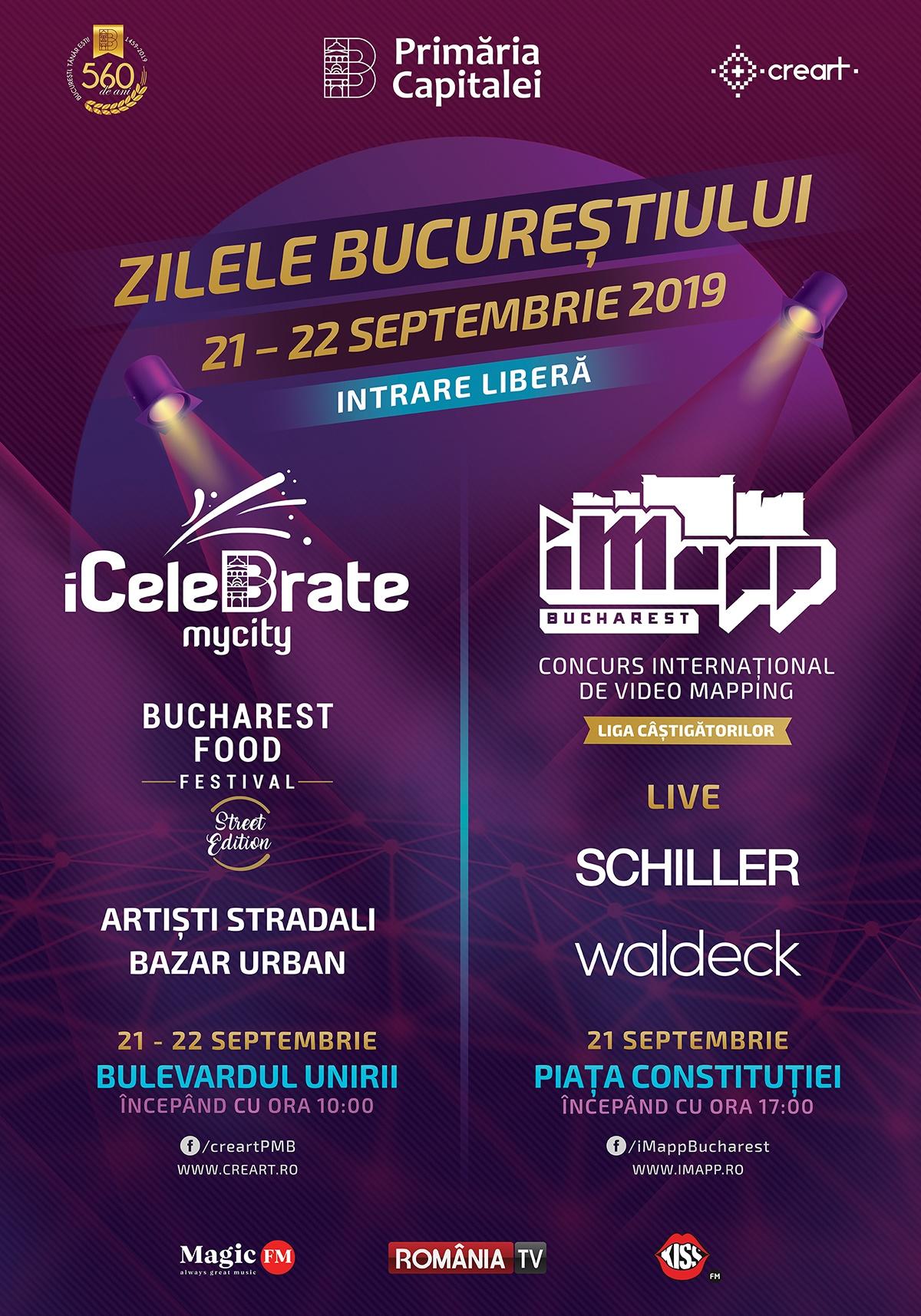 Zilele Bucureștiului 2019: Schiller, Waldeck la Piața Constituției