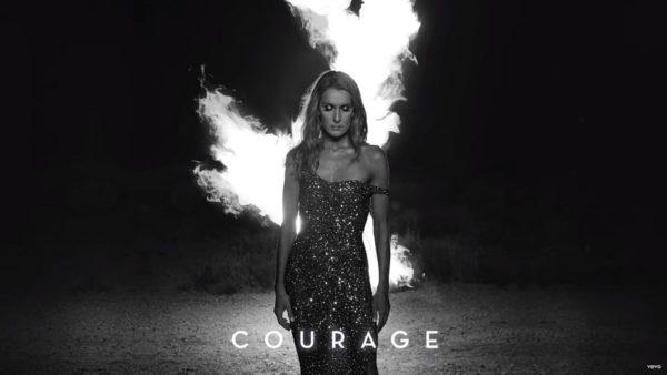 Coperta single Celine Dion Courage