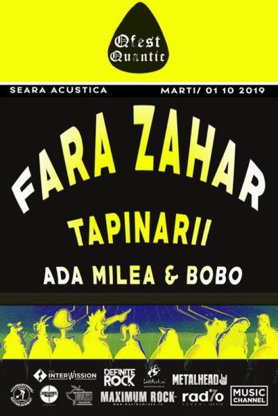 Poster eveniment Ada Milea & Bobo Burlăcianu, Țapinarii, Fără Zahăr