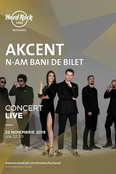 "Poster eveniment Akcent - \""N-am bani de bilet\"""