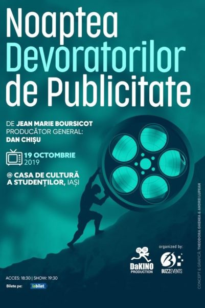 Poster eveniment Noaptea Devoratorilor de Publicitate 2019