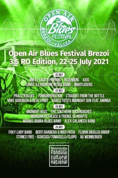 Poster eveniment Open Air Blues Festival Brezoi 2021 (3.5 RO Edition)