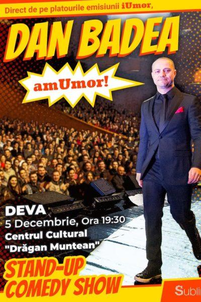 Poster eveniment Stand Up Comedy: Dan Badea - amUmor