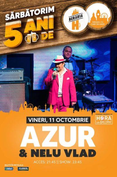 Poster eveniment Azur și Nelu Vlad