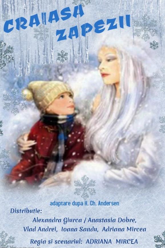 Crăiasa Zăpezii la Palatul Național al Copiilor