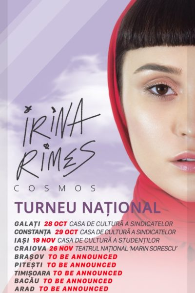 Poster eveniment Irina Rimes - turneu național