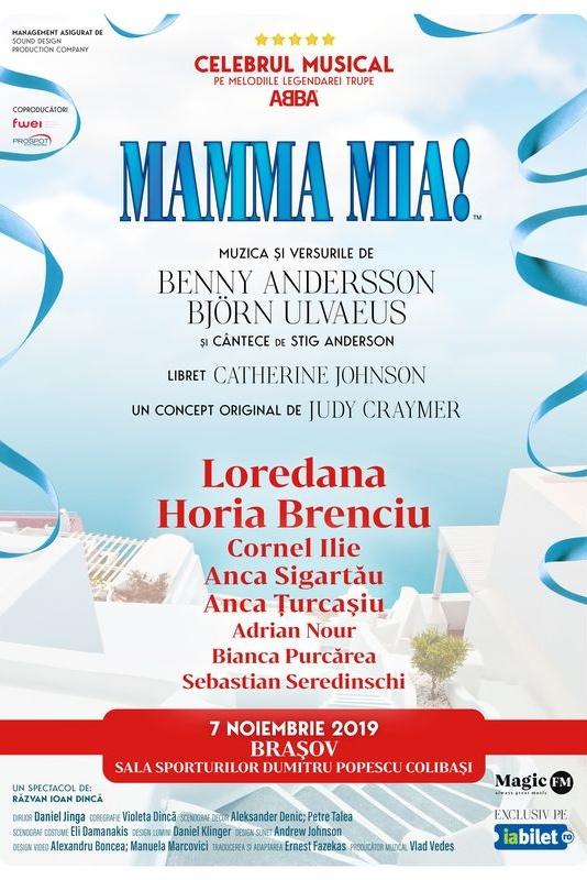 Mamma Mia la Sala Sporturilor Brașov