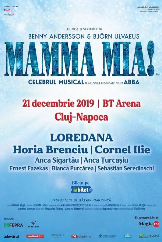 Mamma Mia la BT Arena (Sala Polivalentă) Cluj-Napoca
