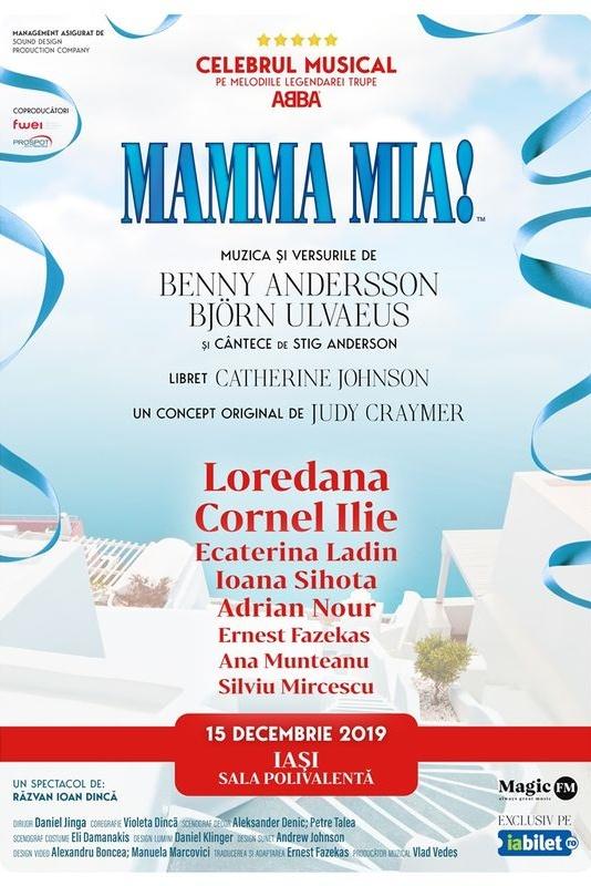 Mamma Mia la Sala Polivalenta din Iași