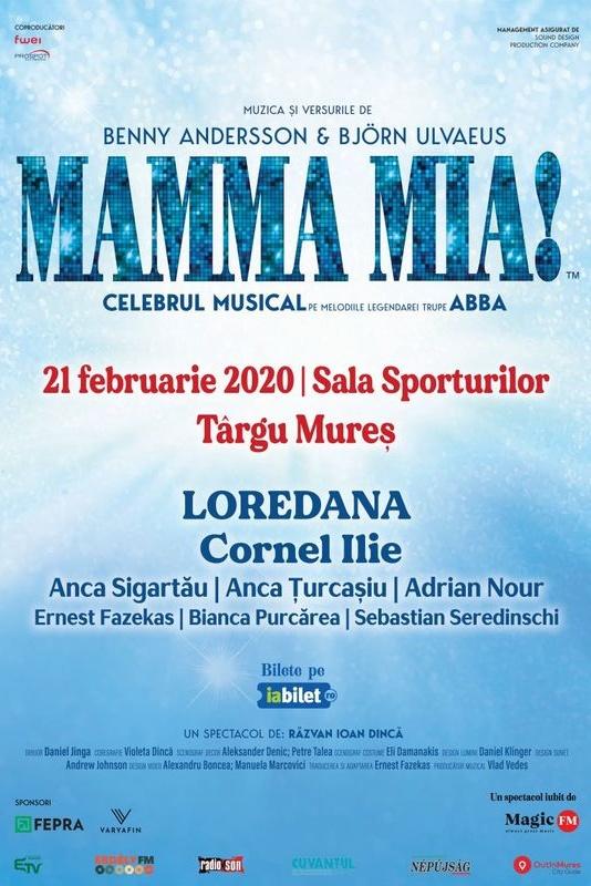 Mamma Mia - ANULAT la Sala Sporturilor Târgu Mureș