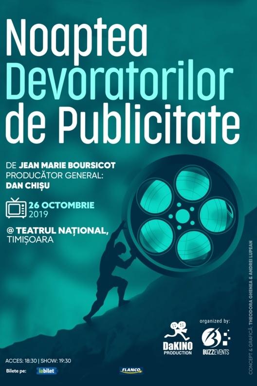 Noaptea Devoratorilor de Publicitate 2019 la Teatrul Național Timișoara